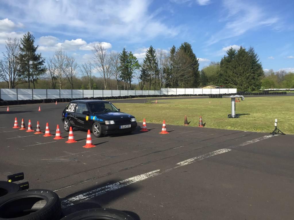 Automobilslalom im Fuldaer Automobil-Club